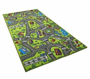 Kids Carpet Playmat Rug City Life Great for Playing with Cars and Toys - Play...