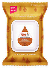 Yes To Miracle Oil Brighten & Condition ARGAN OIL 2-in-1 Facial Wipes: 30 Cloths