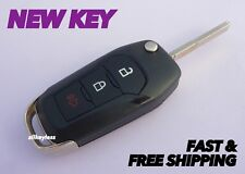 OEM FORD TRUCK SUV flip key keyless entry remote fob transmitter+NEW UNCUT BLADE