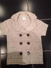Stylish NEXT Brand Warm Grey Short Sleeved Cardigan Age 7 - 8 Years