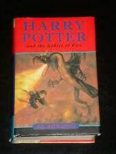 HARRY POTTER AND THE GOBLET OF FIRE by JK Rowling (Hardcover) MADE INTO MOVIE