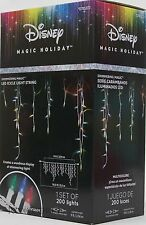 Gemmy Disney Magic Holiday 200 Shimmering Multicolor Mini Icicle String Lights