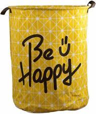 Lkxc Storage Bin,Canvas Fabric Collapsible Organizer Basket for Laundry Hamper