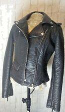 0e82d94bcdda1 New ListingSize M Blanc Noir BLACK MOTO JACKET Faux Leather Zipper Belt  Loops Textured