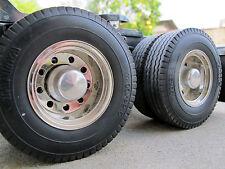 Pair Aluminum Rear Hubs Cover Wheel Nut Tamiya Semi 1/14 RC Tractor King Hauler