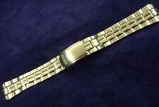 NOS~ SEIKO 31F4-B.E. 18MM GOLD PLATED STAINLESS WATCH BAND BRACELET
