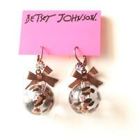 New Betsey Johnson Leopard Ball Drop Dangle Earrings Fashion Women Party Jewelry