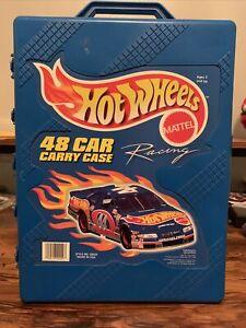1998 Hot Wheels 48 Car Carry Case~Blue~Vintage Mattel Racing