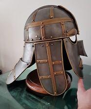 Medieval Style Steel Re enactment Helmet  Helm Larp.