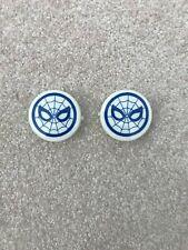 Gottlieb Spiderman Pinball Machine Pop Bumper Caps ( NEW  PAIR )