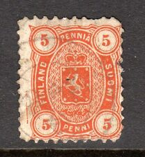 Finland - 1875 Def. Coat of Arms Mi. 13Ayb FU (Perf. 11, pulled perf.) c