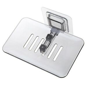 Soap Box Dish Storage Plate Tray Holder Wall Mounted Case Soap Holder Bathroom