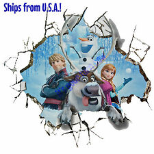 GIANT Disney FROZEN 3D Wall Decal OLAF ANNA SVEN CHRISTOFF Removable Sticker BIG