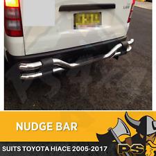 Aluminium Nudge Bar to suit Toyota Hiace 2005-2018 LWB Rear Step Chrome