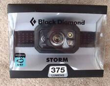 Black Diamond Storm Headlamp 375 Lumens Graphite ~ Brand New ~