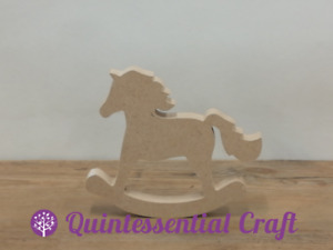 18mm Thick Freestanding Wooden MDF Rocking Horse Craft Shape