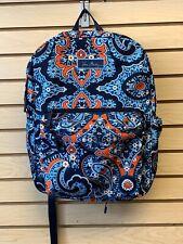 VERA BRADLEY Large Backpack Book Bag MARRAKESH Laptop Bag, New