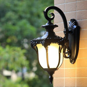 Vintage Outdoor Wall Light  IP65 Glass Wall Sconce Garden Wall Lamp