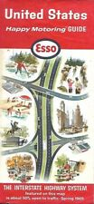 1965 ESSO HUMBLE Road Map UNITED STATES Route 66 Interstate Highways Code W1065