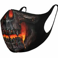 Spiral Direct SKULL LAVA - Protective Face Masks Isolation/Mask/Wrap/Reusable