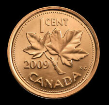 (3-coins) 2009 magnetic Canada   1 cent     UNC. coin from roll