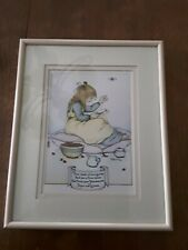 "Rare - Mary Engelbreit framed card - 1978 ""Thou shalt sit on a cushion  . . ."""