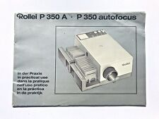 Vintage Rollei P 350 A Autofocus User Manual in 6 languages including English