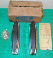 1970 Ford Custom Galaxie 500 XL NOS KIT - CHROME BUMPER GUARDS - REAR with PADS