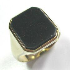 60 - Klassischer Herrenring aus Gelbgold 585 mit Heliotrop --- 1990