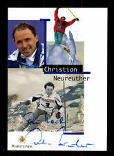 Christian Neureuther AUTOGRAPHE CARTE original signé skialpin + A 157002