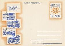 Poland prepaid postcard (Cp 709) aviation motorization