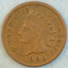 1900 Indian Head Cent Penny Liberty Very Nice Vintage Old Coin Fast S&H 34013