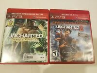 Bundle Lot Of Uncharted Drakes Fortune 1 And 2 Game Of The Year Edition PS3