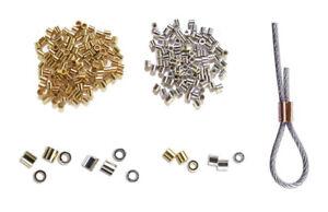 Quetschröhrchen Crimp Röhrchen in 3 Durchmessern 925/Silber, vergoldet und Rosé!