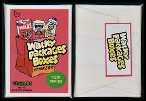 NEW 2019 Lost Wacky Pack Box Stickers Series 12th Complete Set Sealed Pack