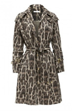 Sass & Bide TRACK & FIELD leopard Trench Coat BNWT Stand and Deliver