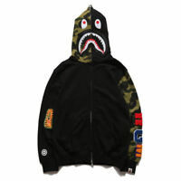 Lovers Bathing Ape Bape Shark Zipper Hoodie Sweats Coat Jaw Jacket Camo Full