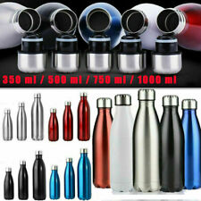 Edelstahl-Trinkflasche | Isolierflasche Wasserflasche Thermosflasche Flask 1L DE