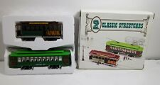 2 Classic Streetcars HO Scale Desire Street Trolley & San Francisco Cable Car