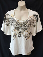 Katies Size 16-18 T Shirt Top NEW Embellished Batwing Work Casual Holiday Dinner