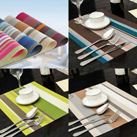 KE_ PVC Quick-drying Placemat Insulation Mat Coasters Kitchen Dining Table Ser