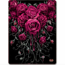 Spiral Direct Blood Rose Fleece Blanket Throw Gothic 150cm x 200cm
