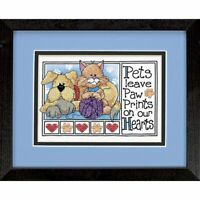 "Dimensions Paw Prints Mini Stamped Cross Stitch Kit, 7""x5"""