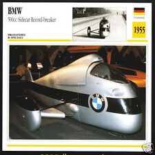 1955 BMW 500cc Sidecar Record-Breaker Motorcycle Photo Spec Sheet Info Stat Card