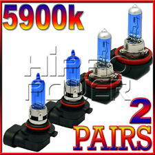9005 & H11 SUPER WHITE XENON HID HALOGEN LIGHT BULBS - LOW&HIGH BEAM COMBO