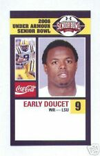 EARLY DOUCET LSU TIGERS SENIOR BOWL CARD