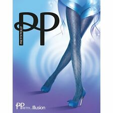 PRETTY POLLY - Printed Cable Knit Effect Tights - Charcoal - One Size  BNIP