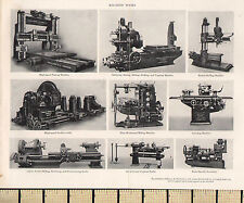 1927 PRINT ~ MACHINE TOOLS ~ TURBINE LATHE GRINDING MACHINE ACME SPINDLE