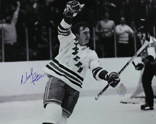 "(#365)Nick Fotiu signed NY Ranger Picture ""Scoring on Flyers"" 8 X 10"