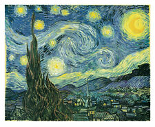 The Starry Night by Vincent Van Gogh Art Print Poster 11x14